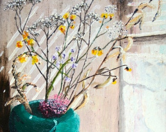 Dried Flowers By Window, Giclee, archival print