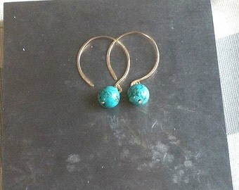 Large Classic Turquoise and Gold Drops