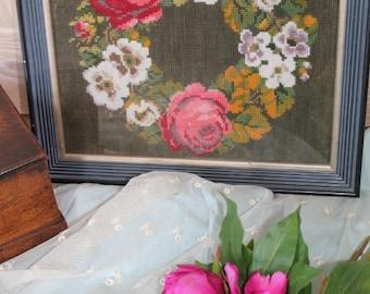 Vintage Wreath Needlepoint