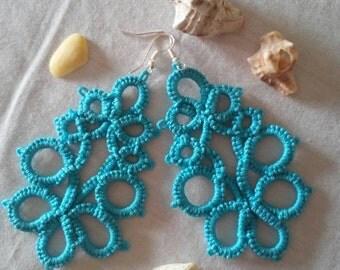 Handmade tatted earings,summer earings,tatted earings,handmade earings,beautiful earings for gift