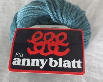 Anny Blatt Lady Blatt Oceanie Green Blue Color 1137  Camel-Silk-Cashmere Yarn
