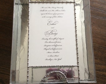 Custom Wedding Glass Invitation Box