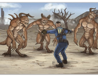 Fallout 4 Print - Deathclaw Trainer