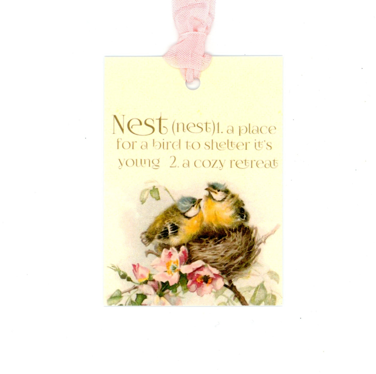 Tags Bird Gift Tags Nest Tags Nest Definition Vintage
