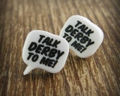 Roller Derby - Talk Derby To Me Acrylic Earrings