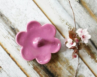 Ring Holder, Ring Dish, Ring Bowl, Violet Pink