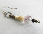 Single Beaded Earring // Modern Bohemian Dangle Earring from Vintage Beads / One of a Kind / Eco friendly Jewelry by Luluanne