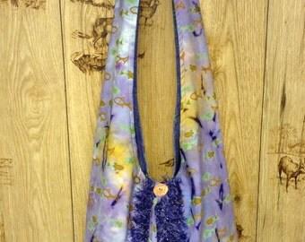 Bohemian Purse, Hobo Bag, Slouch Bag, Fish Handbag, Handmade Fish Fabric Bag, Large Tote, Over the Shoulder Handbag, Fish Lover's Handbag