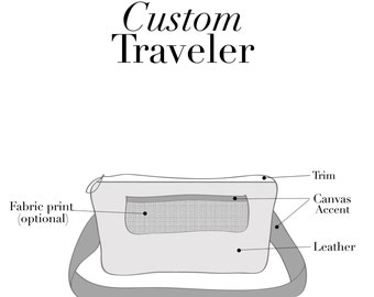 Custom Leather Traveler, Fanny Pack, Hip Bag, Bum Bag, Belt Bag, Waist Bag, Convertible Waist Pack, Made to Order