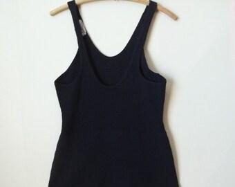 Vintage 30's Black Wool Swimaway Swimsuit Bathing Suit