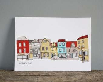 Norwich Print - Elm Hill A4 Illustration Print