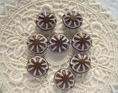 14mm Mocha Creme Vintage Lucite Beads Brown Lentil 8