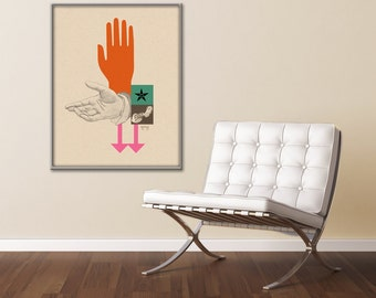 Extra Large Print, Large Wall Art, Vintage Poster, Mid Century Modern, Office art