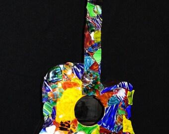 Guitar Art with Blown Glass