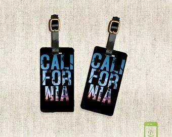 Personalized Luggage Tags California Cali Luggage Tag Set Personalized Luggage Tags - Full Metal Tags