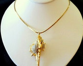 Gold Dipped Seashell Necklace