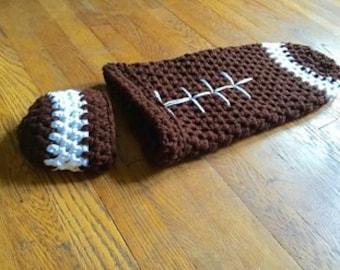 Baby Cocoon Swaddling Set - Newborn Football Costume - Newborn Cocoon Football - Newborn Photo Prop - Baby Cocoon - Newborn Cocoon And Hat
