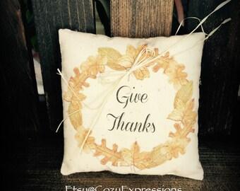 Thanksgiving Pillow Tuck
