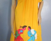 Mexican Dress. Mexican Motif Dress.  Ethnic Dress.  Mexican Festival Dress. Peasant Dress