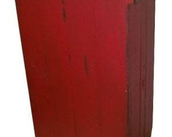 Primitive/Rustic Distressed Trash Bin,   ATC993