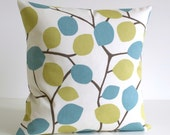 20x20 Pillow Cover, 20x20 Cushion Cover, 20 Inch Pillow Case, Toss Pillow Cover, Decorative Pillow Cover - Nordic Leaves Pistachio