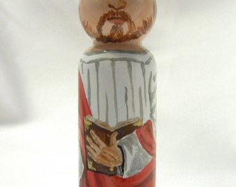 Saint Paul the Apostle - Catholic Saint Wooden Peg Doll Toy - made to order