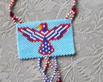 Patriotic Bird Necklace