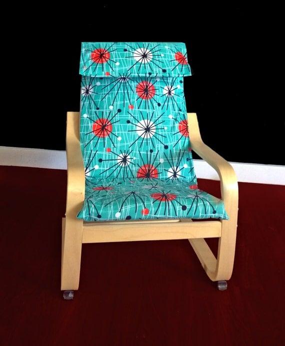 Ikea Poang Chair Cover Etsy ~ IKEA KIDS POÄNG Cushion Slipcover Atomic by RockinCushions
