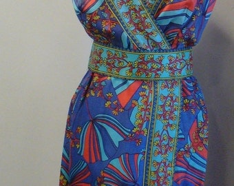 Vintage 1960's Op Art Dress