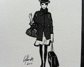 Set of 4 Fashion illustration Art Cards