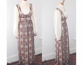 Dolly rockers by Sambo, vintage maxi dress. 60s dress. Small size