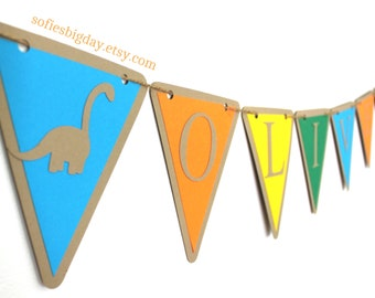 Dinosaur Banner-Dinosaur name banner-Dinosaur birthday-Dinosaur decor-dinosaur party-1ST birthday-one banner-dinosaur party decorations