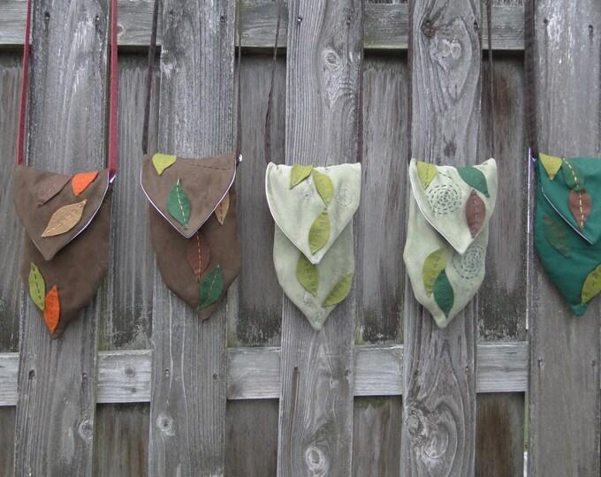 Renaissance Bag, Fairy Purse, Fantasy Leaf Bag, Celtic Spiral - Choose Your Bag