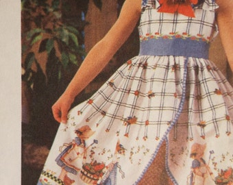 Cutie Pie Sundress and Shorts with matching Doll dress pattern Daisy Kingdom Simplicity 9166 size 3-6