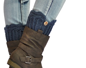 Boot Cuffs, Knit - with Crochet Trim, Made to Order