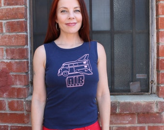Vintage 90's AIR French Techno Pop Concert Tank Top Band Shirt Size Small to Medium