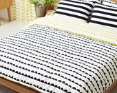 Half Moon Cotton Fabric - Black and White - By the Yard