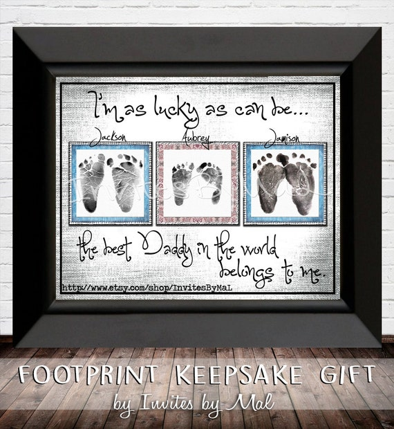 Baby footprint / handprint keepsake gift (single or multiple)PERFECT for Father's or Mother's Day,Birthday,Grandparents/Aunt/Uncle/Godparent