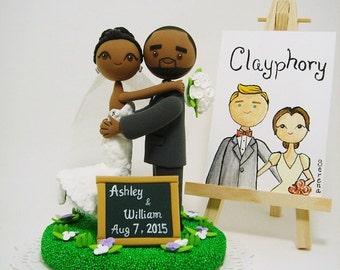 Rustic theme  custom wedding cake topper