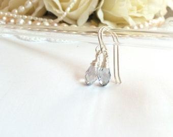 Wedding earrings, bridal earrings, silver earrings, crystal earrings, dangle earrings. bridal jewelry earrings, wedding dangle earrings