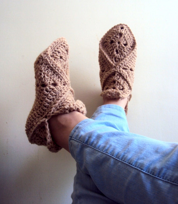 Granny Square Slippers Crochet Slippers Soft and by ...