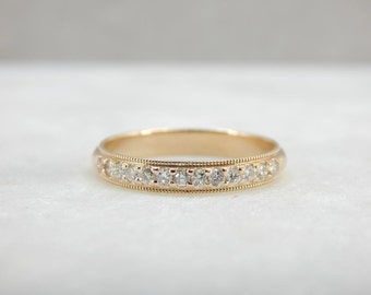 Beautiful Diamond Inlaid Wedding Band From Our Studio QD6XY8-R