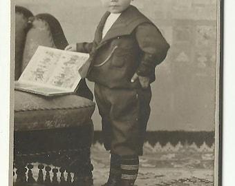 CDV photo young boy in uniform - Cabinet Portrait