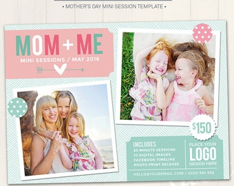 Mother's Day Mini Session Marketing Board / Photography Marketing Board - Photoshop Template for photographers (DM29) - INSTANT DOWNLOAD