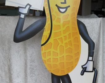 "Mr. Peanut Cardboard Stand-Up Display Card Advertising Sign 48"" Planters Lifesavers Company Country Store"
