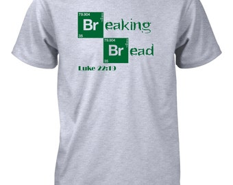 AproJes Jesus Breaking Bread Last Supper Christian Shirt