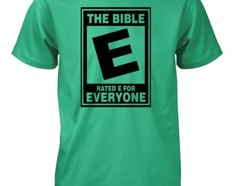 AproJes The Bible Rated E Everyone Christian Shirt