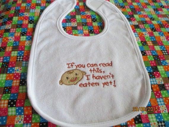 Baby bib machine embroidery gift shower