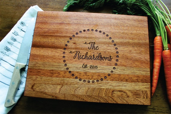 Normal Wedding Gift Amount: Personalized Cutting Board, Wedding Gift, Engraved Cutting