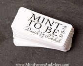 Mint to be favor tag, wedding favor tags, personalized tags, wedding gift tags, small favor tags, mint to be theme